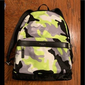 Men's Michael Kors Neon Camo Backpack